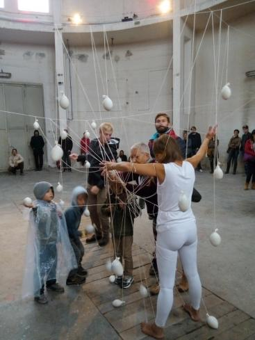 injuries 2, wounds, relief, performance, interaction, participating, Asche zu Farbgut, Augsburg, Gaswerk