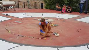 Magic Circle, joy of weaving, sustainability, colorful, games and fun in performanceart